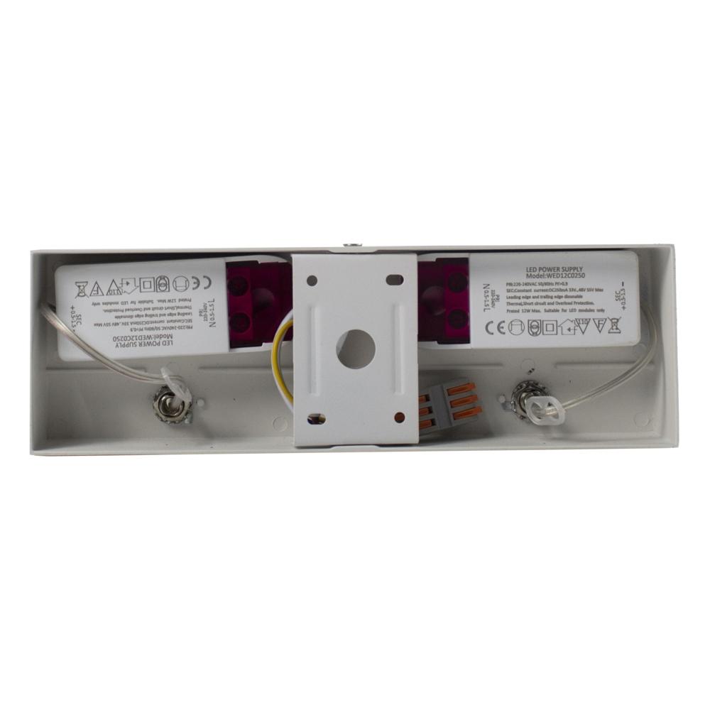 LED AR111 dubbele opbouwspot - 2x 12 watt - dimbaar - kantelbaar - dim to warm - binnekant