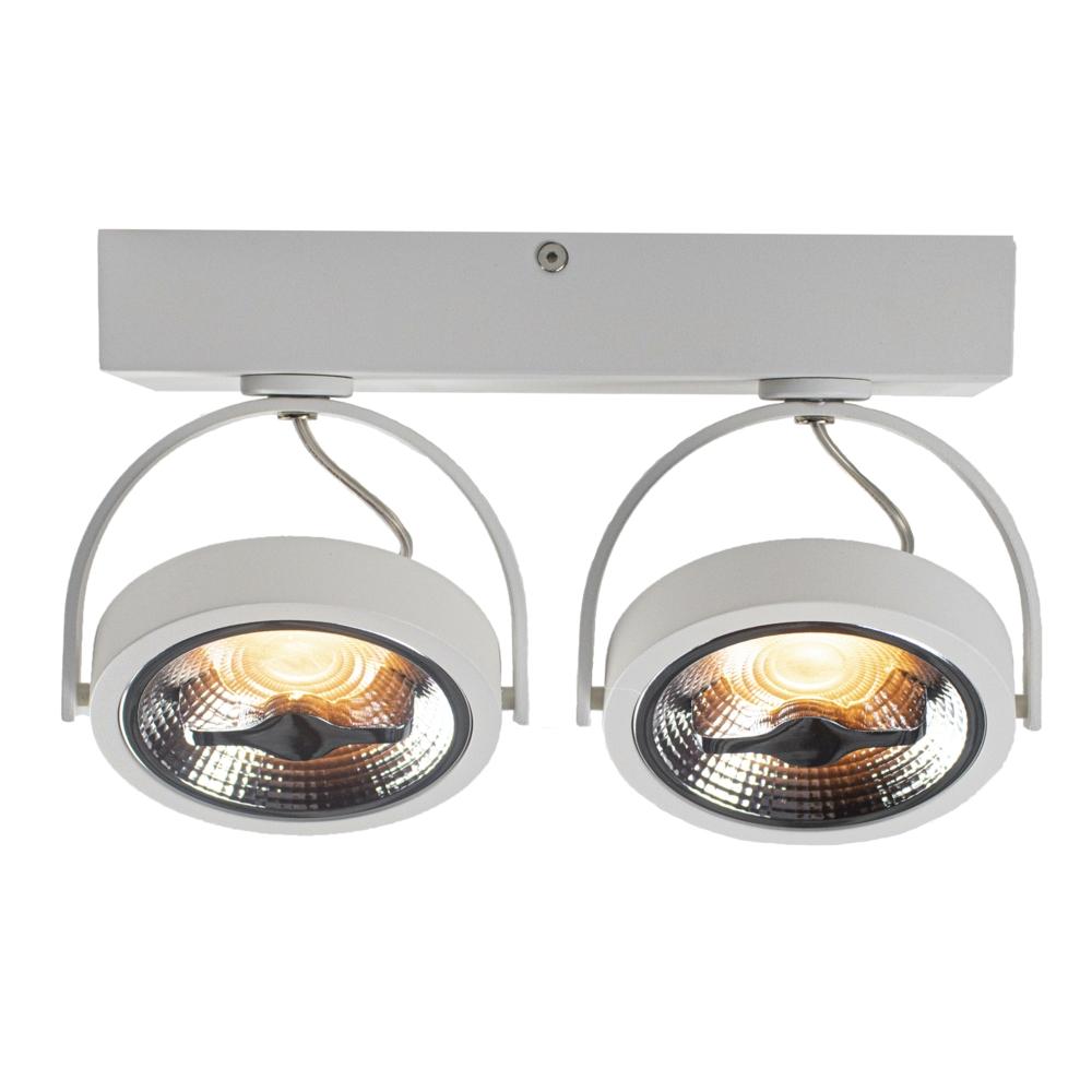 LED AR111 opbouwspot - WIT - 24 watt - kantelbaar - dimbaar - dim to warm - 2200K