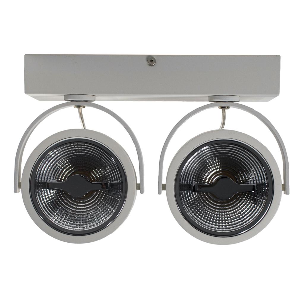 LED AR111 opbouwspot - WIT - 24 watt - kantelbaar - dimbaar - dim to warm - 2200K - 3000K - voorkant
