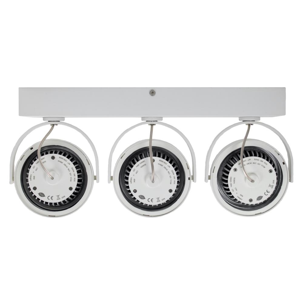 LED AR111 opbouwspot - WIT - 36 watt - driedubbel - kantelbaar - dimbaar - Dim to warm - 2200K - 3000K - achterkant