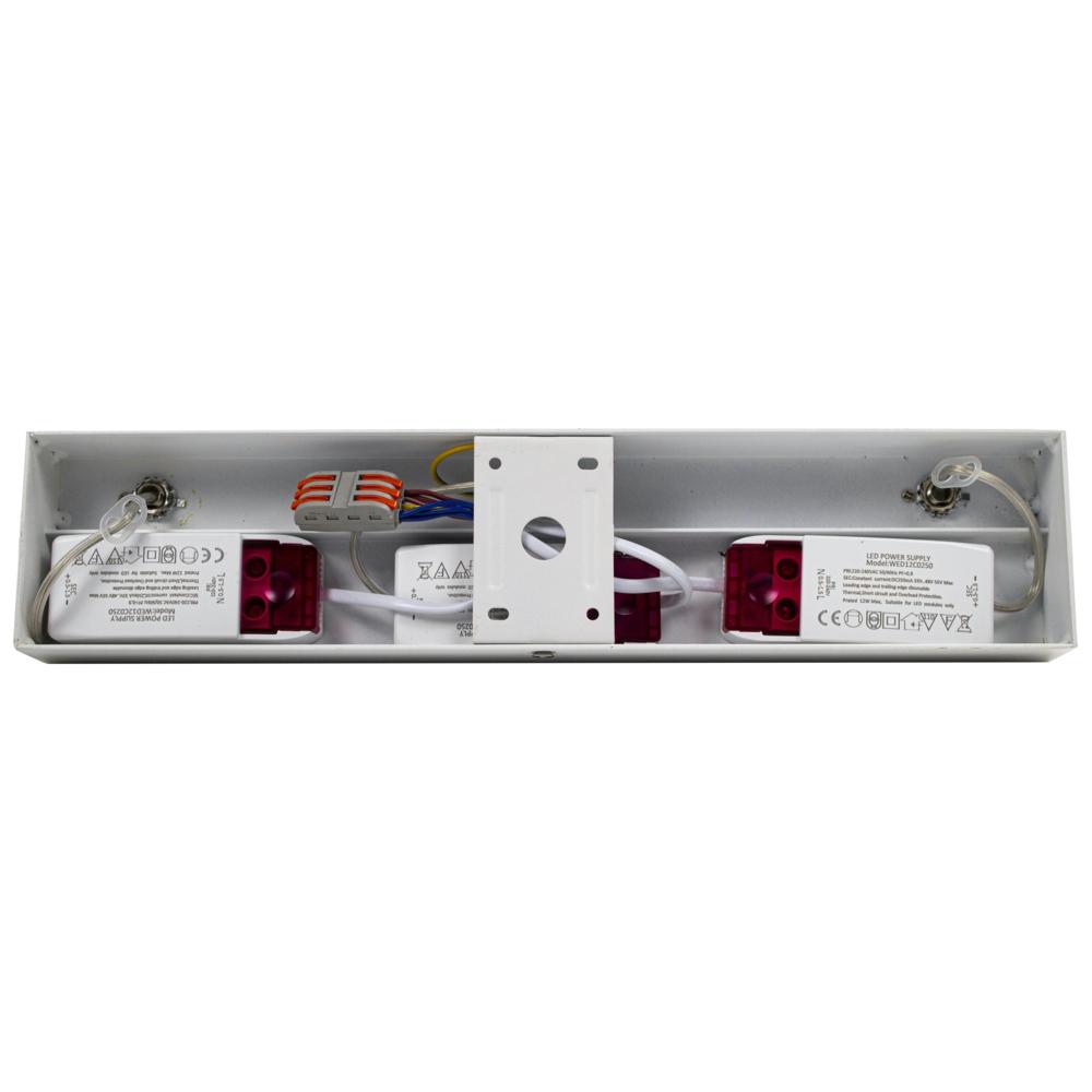 LED AR111 opbouwspot - WIT - 36 watt - driedubbel - kantelbaar - dimbaar - Dim to warm - 2200K - 3000K - binnekant