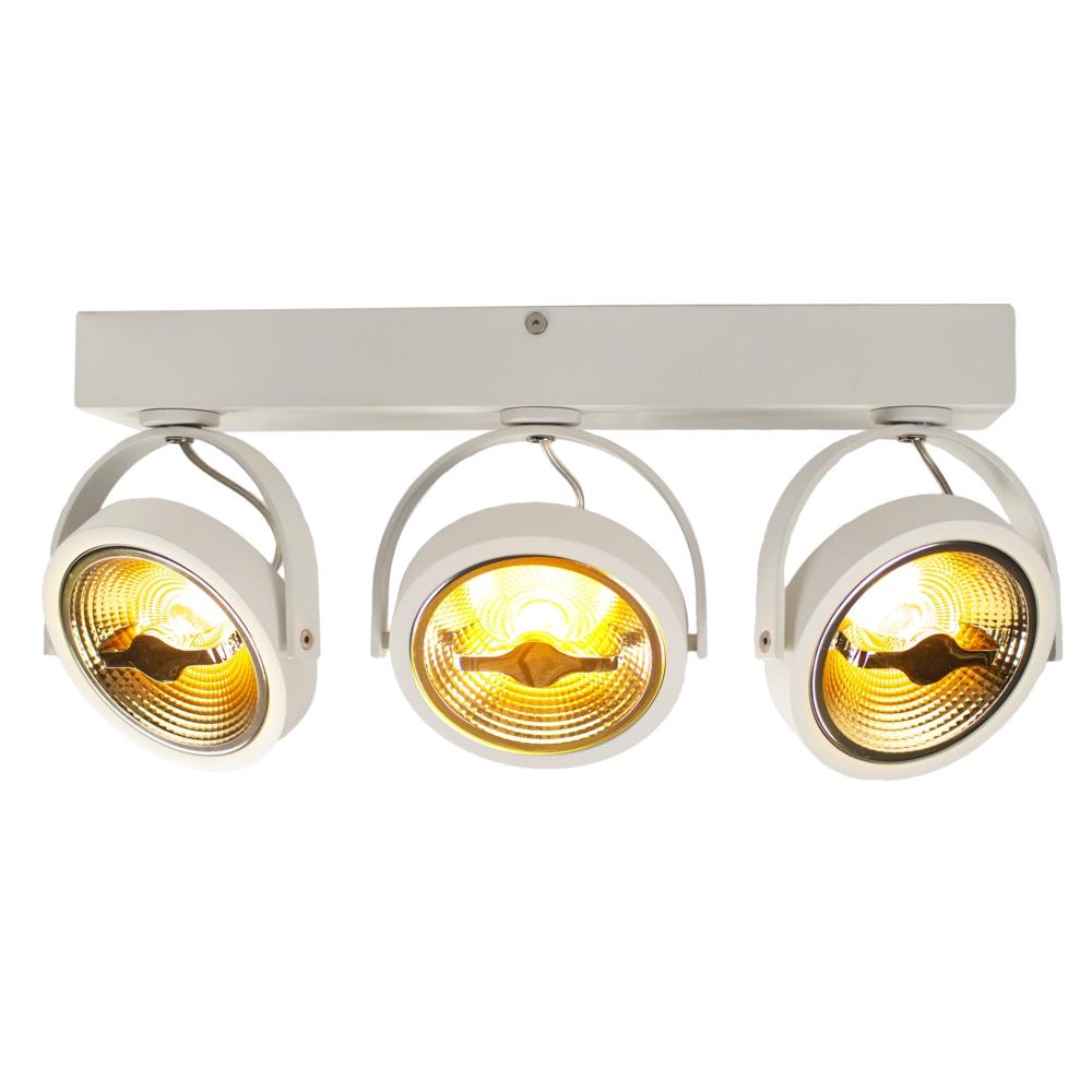 LED AR111 opbouwspot - WIT - 36 watt - driedubbel - kantelbaar - dimbaar - Dim to warm - 2200K - voorkant