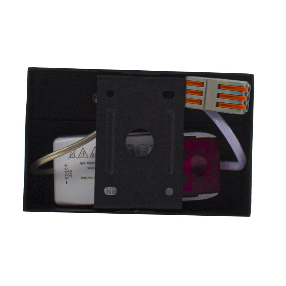 LED AR111 opbouwspot - enkel - zwart - 12 watt - dimbaar - dim to warm - bovenkant