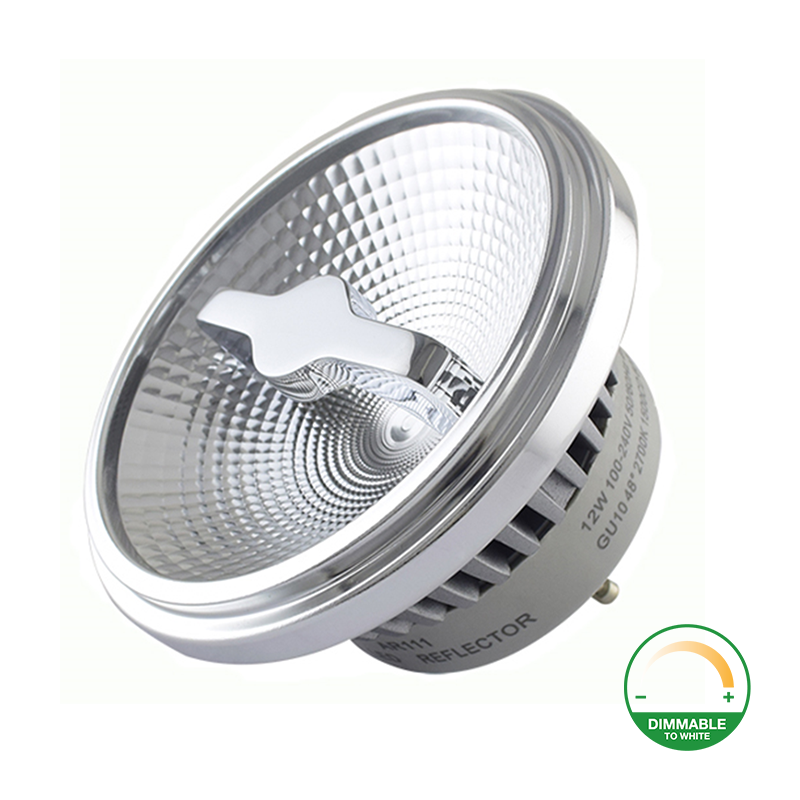 Dim to warm AR111 spot met GU10 fitting - dimbaar - 2200K - 3000K - reflector