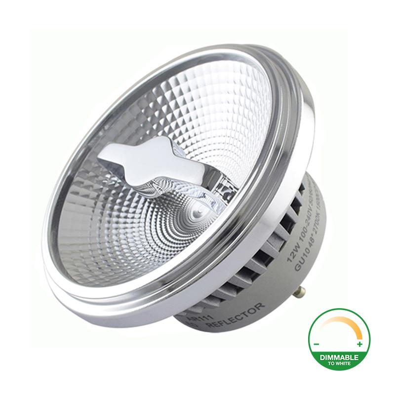 Dim to warm AR111 spot met GU10 fitting - dimbaar - 2200K - 3000K - reflector