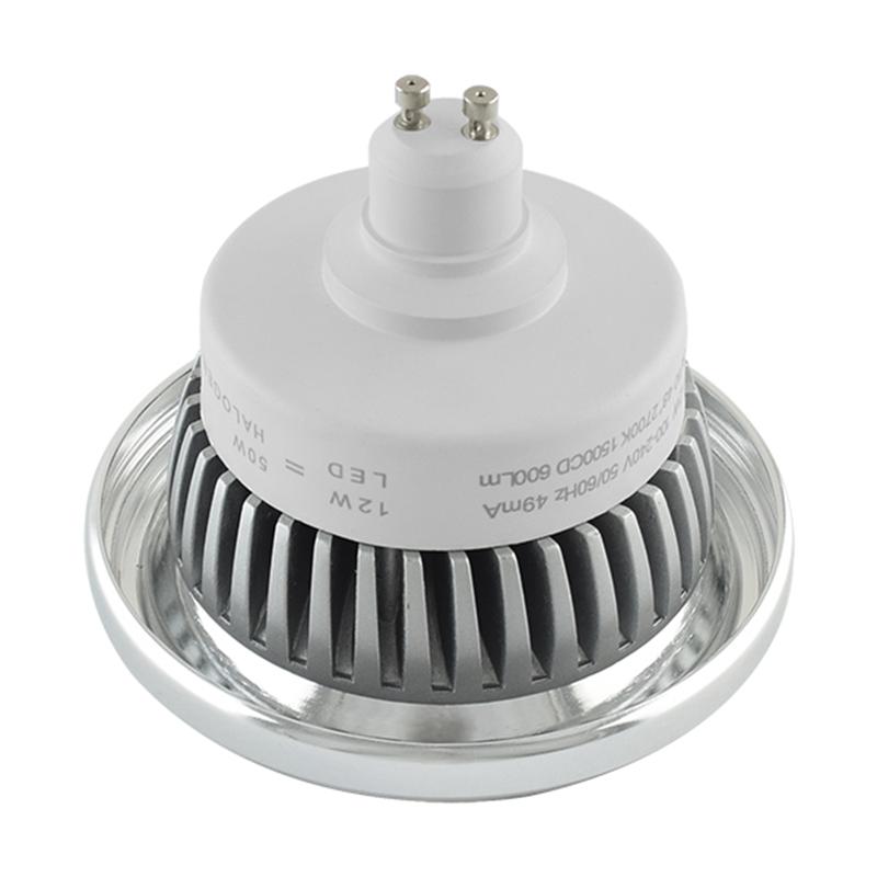 Dim to warm AR111 spot met GU10 fitting - dimbaar - 2200K - 3000K - reflector - achterkant
