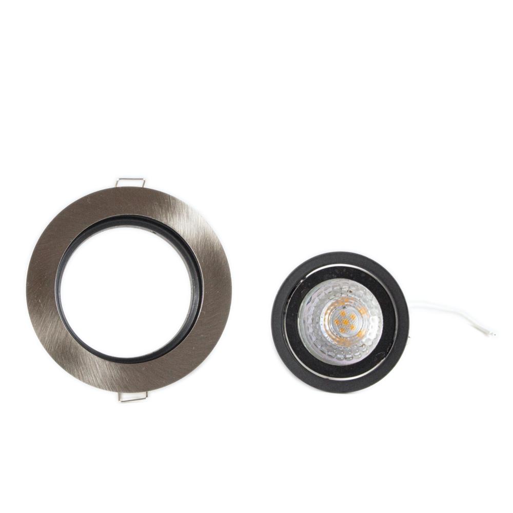 LED aluminium inbouw spot zwart rond - dimbaar - 4000K - kantelbaar - details