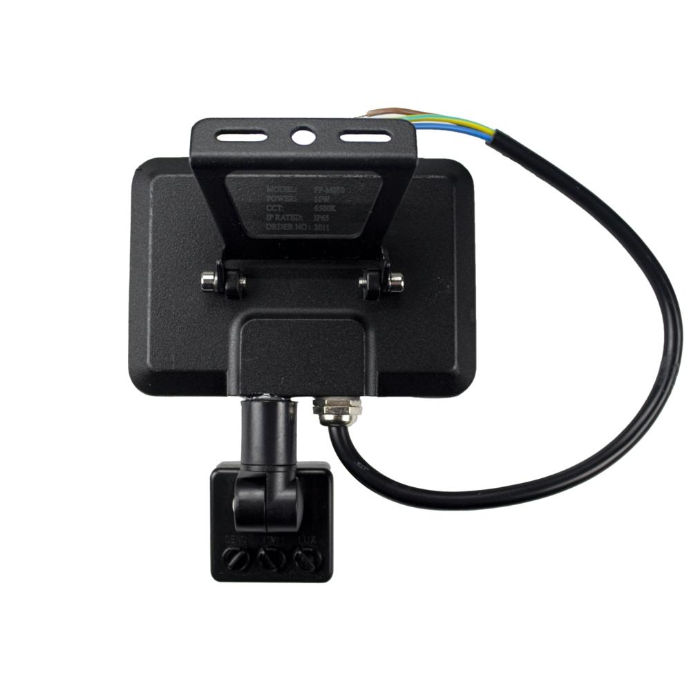 LED Bouwlamp met sensor - 10 watt - 4000K natural white - achterkant
