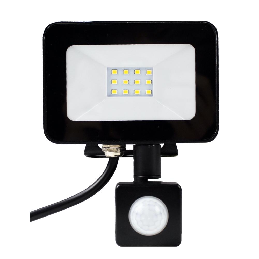 LED Bouwlamp met sensor - 10 watt - 4000K natural white - Voorkant