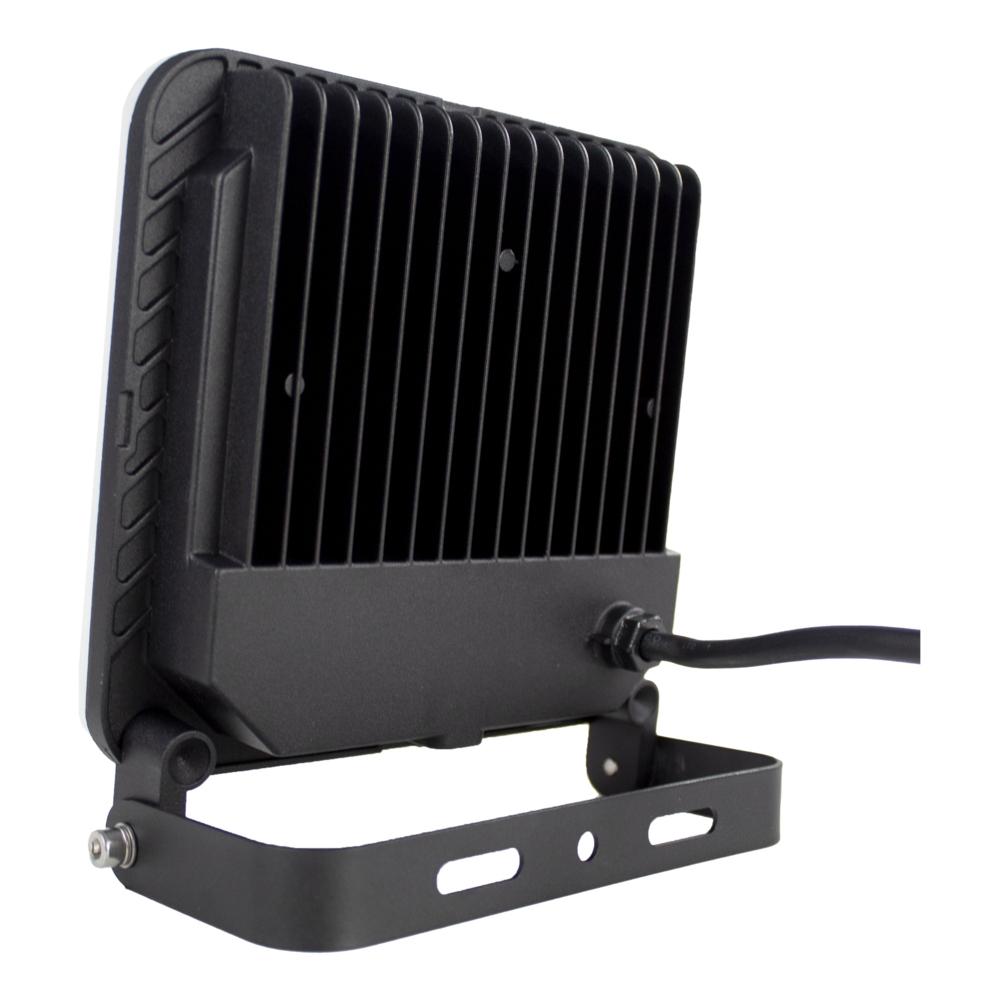 LED bouwlamp met inklapframe 50 Watt 4200K Naturel wit zwart - achterkant bouwlamp