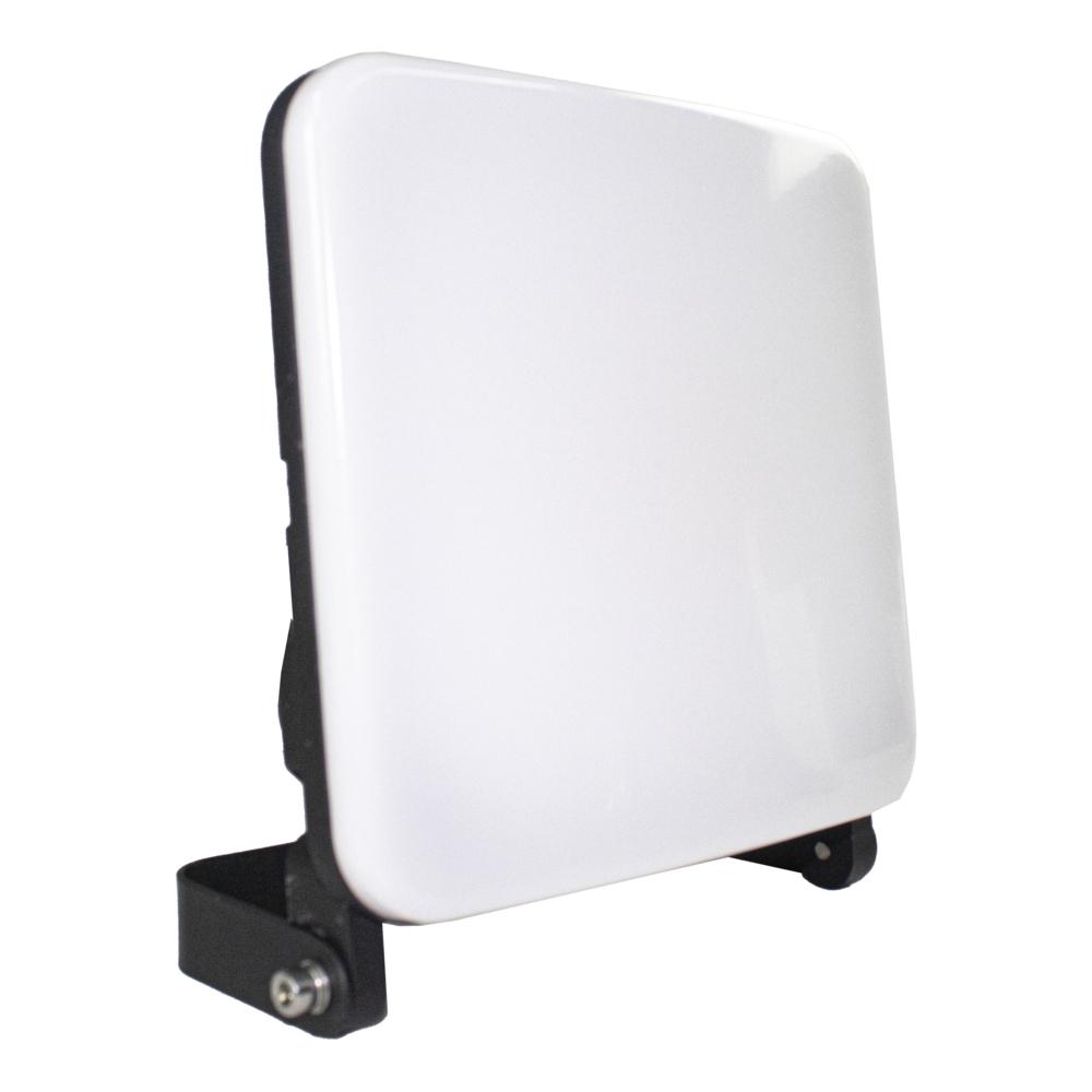 LED bouwlamp met inklapframe 50 Watt 4200K Naturel wit zwart - zijkant bouwlamp