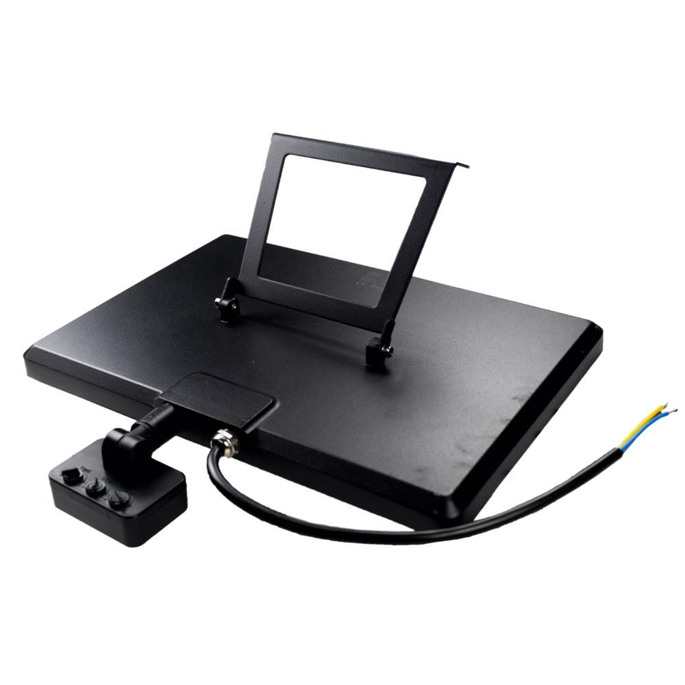 LED Floodlight - bouwlamp - verstraler - 100 watt - met sensor - 6500K daglicht - achterkant