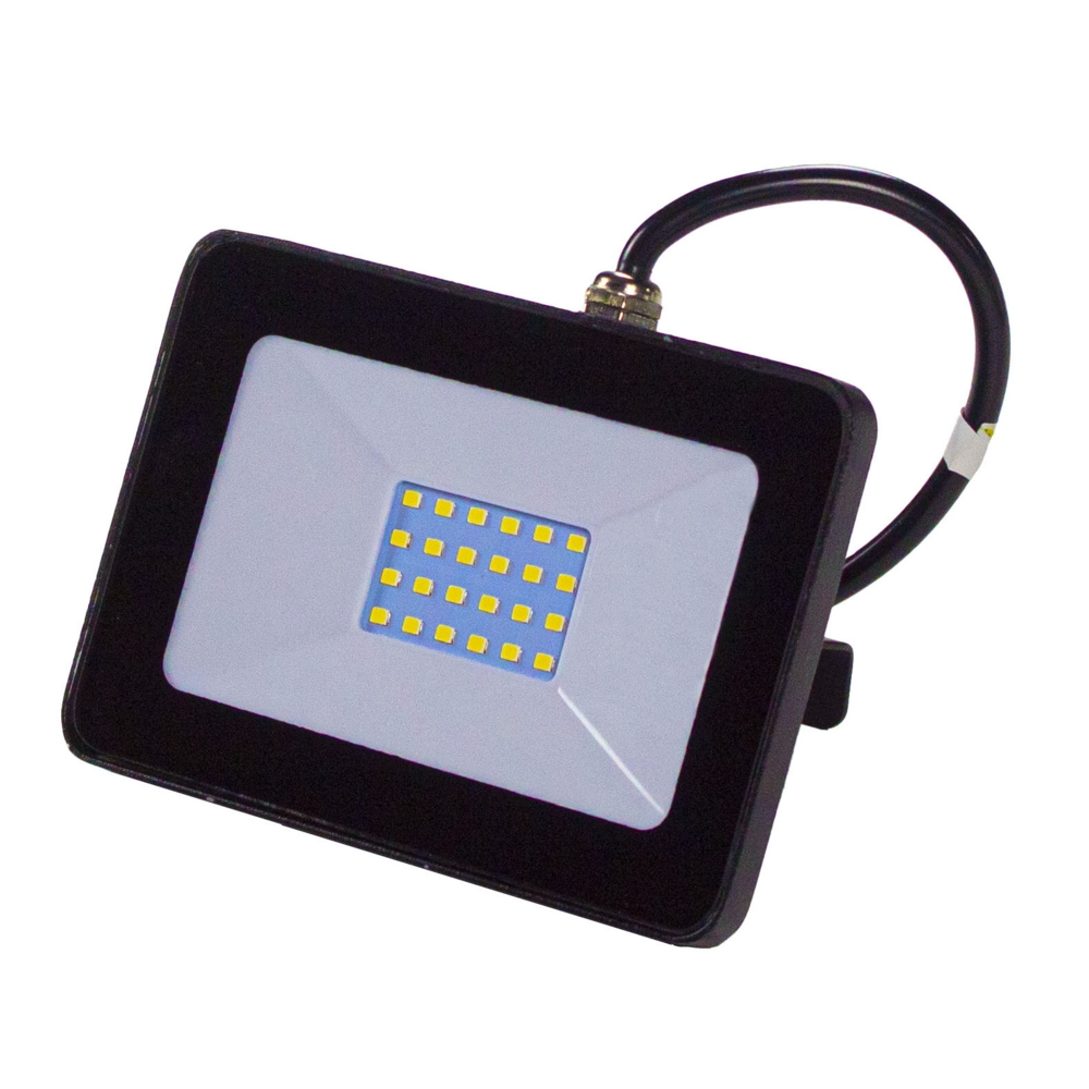 LED Floodlight - breedstraler - verstraler - bouwlamp - 20 watt - 4000K naturel wit - zwart