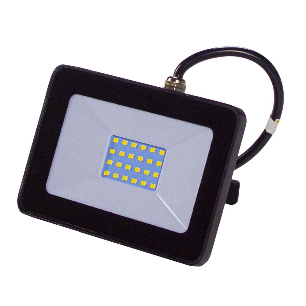LED Floodlight - breedstraler - verstraler - bouwlamp - 20 watt - 4000K naturel wit - zwart