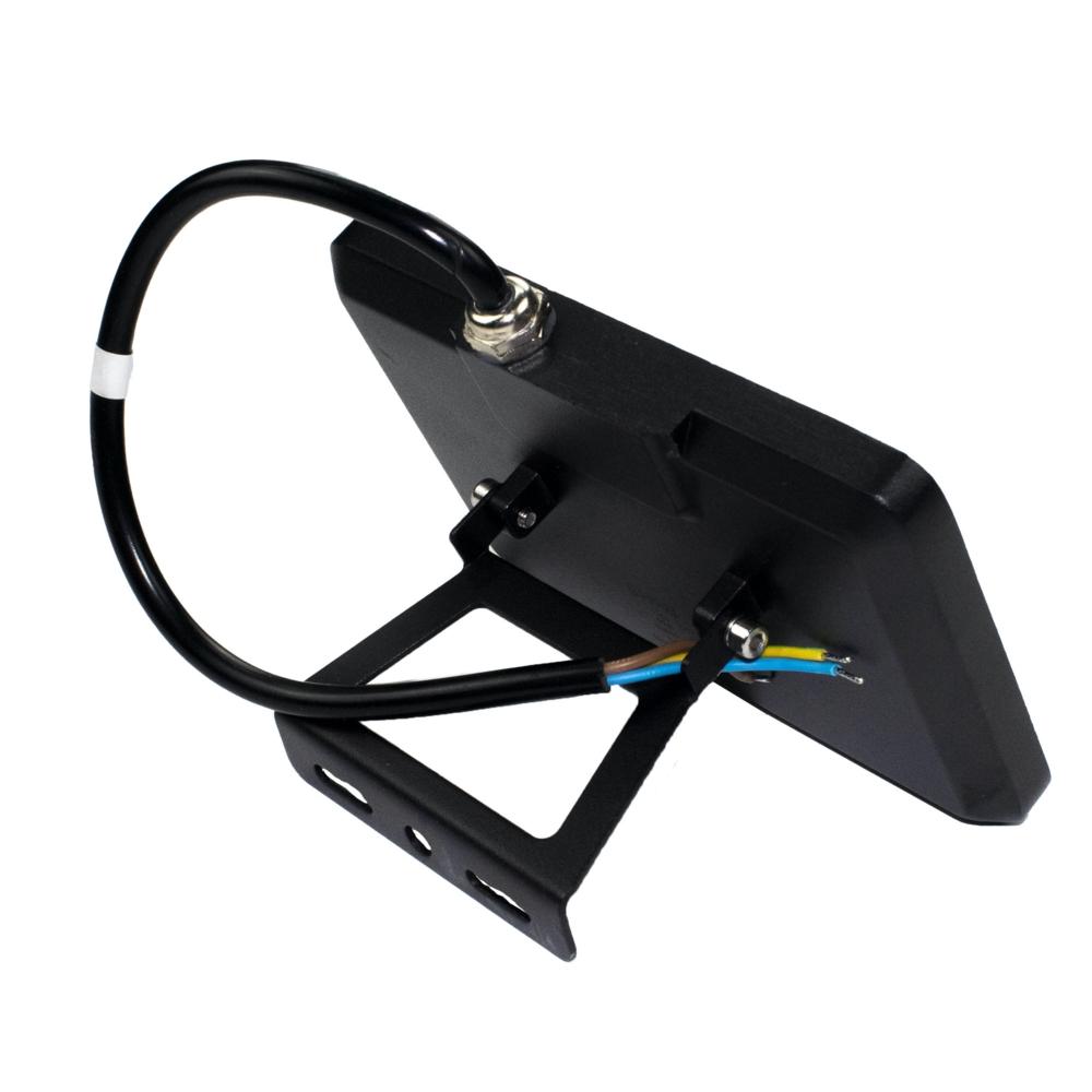 LED Floodlight - breedstraler - verstraler - bouwlamp - 20 watt - 4000K naturel wit - zwart - achterkant