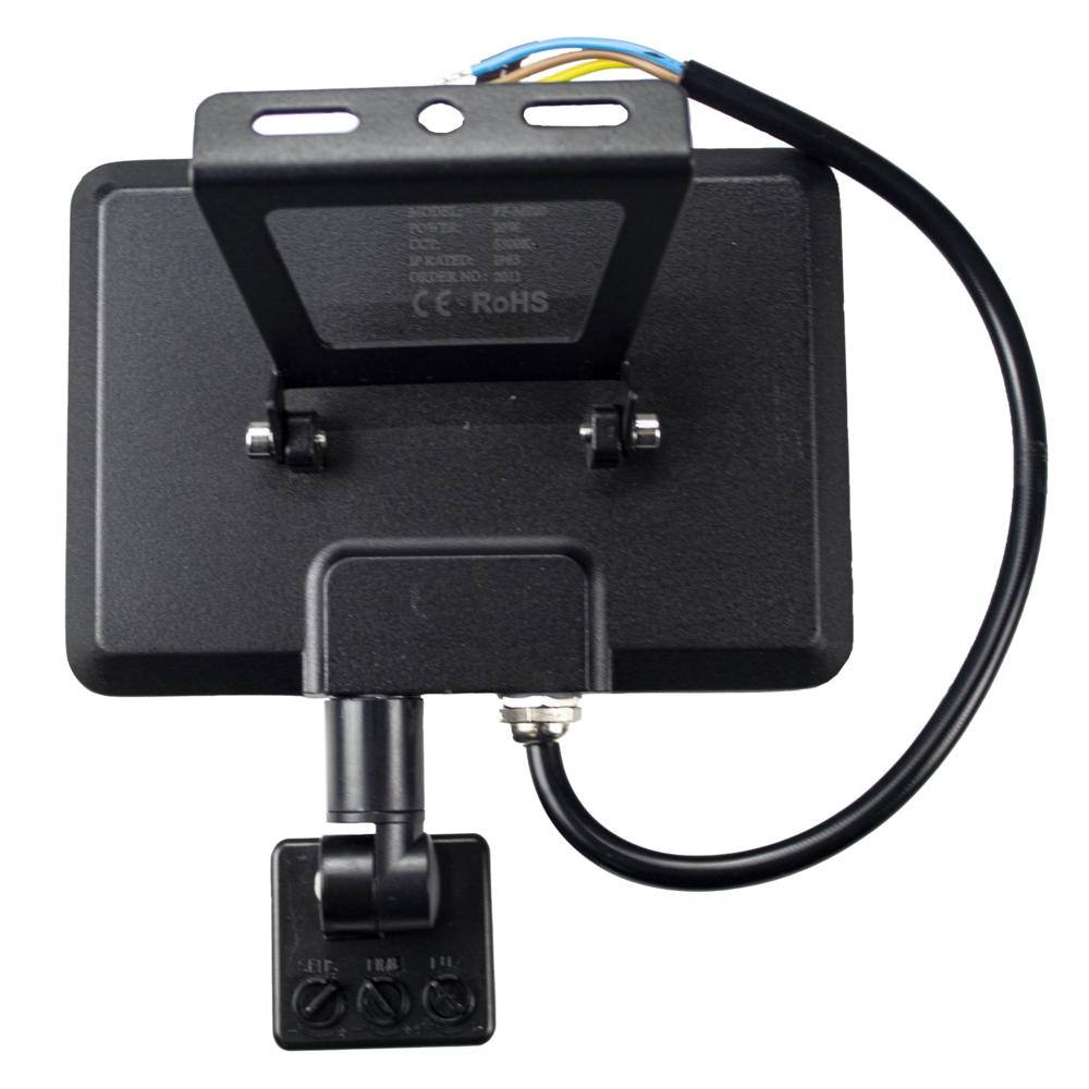 LED Bouwlamp - verstraler - floodlight - met sensor - 20 watt - 4000K natural white - achterkant