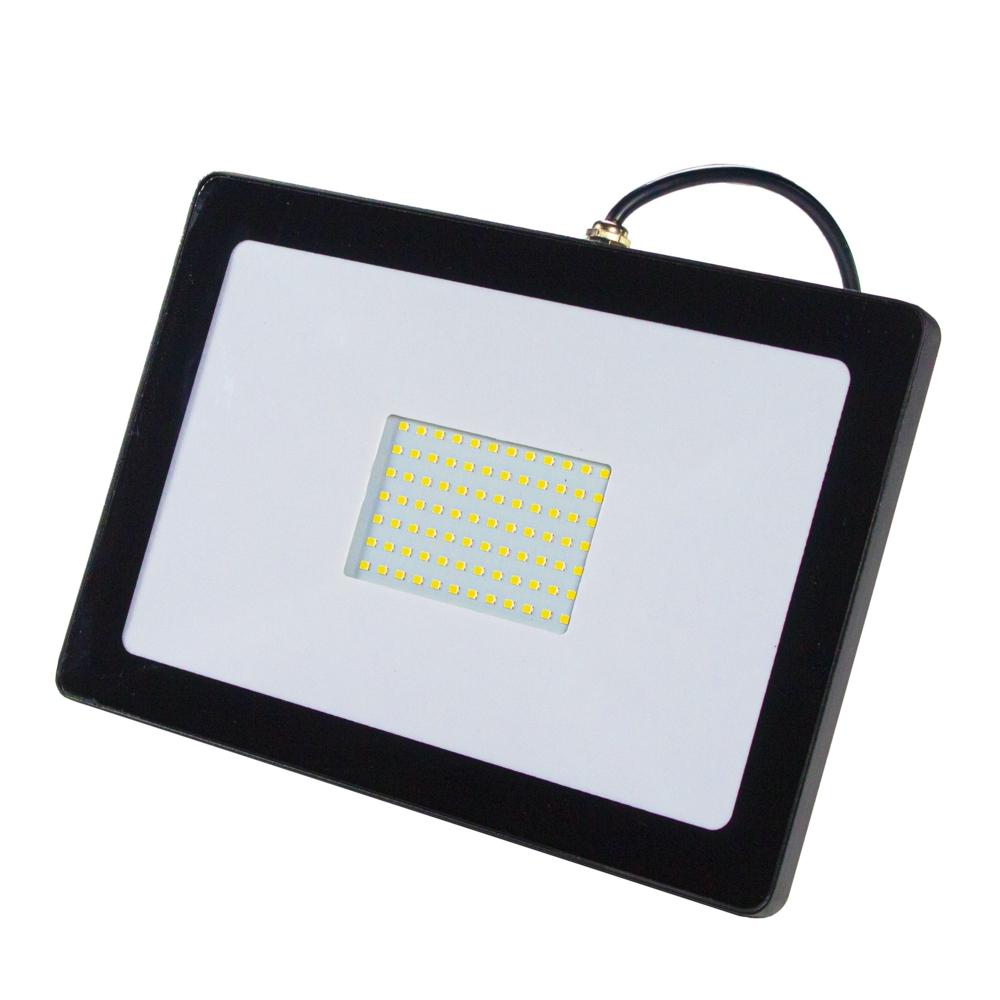 LED Bouwlamp - floodlight - breedstraler 70 watt - 4000K naturel wit - zwart