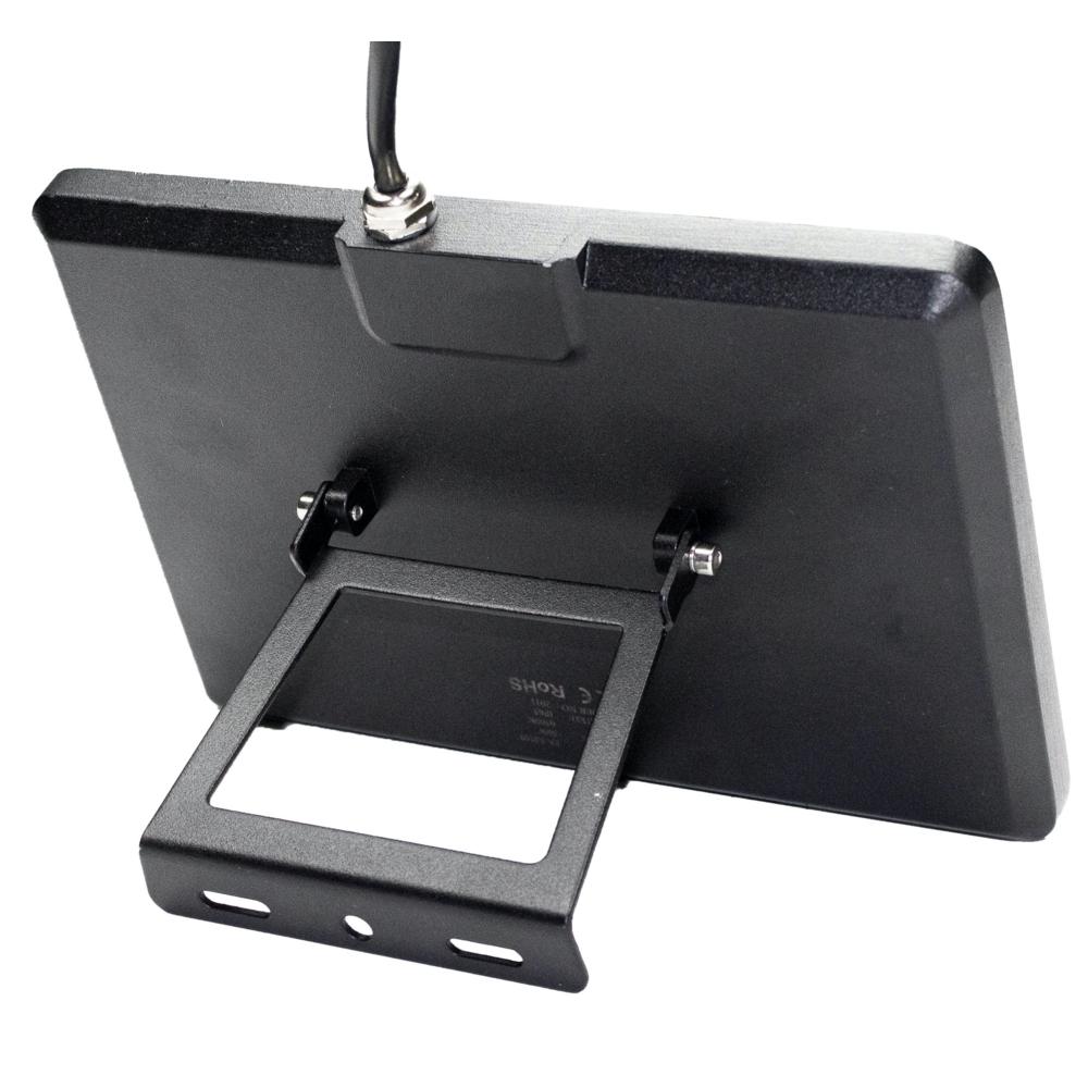 LED Bouwlamp - floodlight - Breedstraler - 50 watt - zwart - 4000K - achterkant