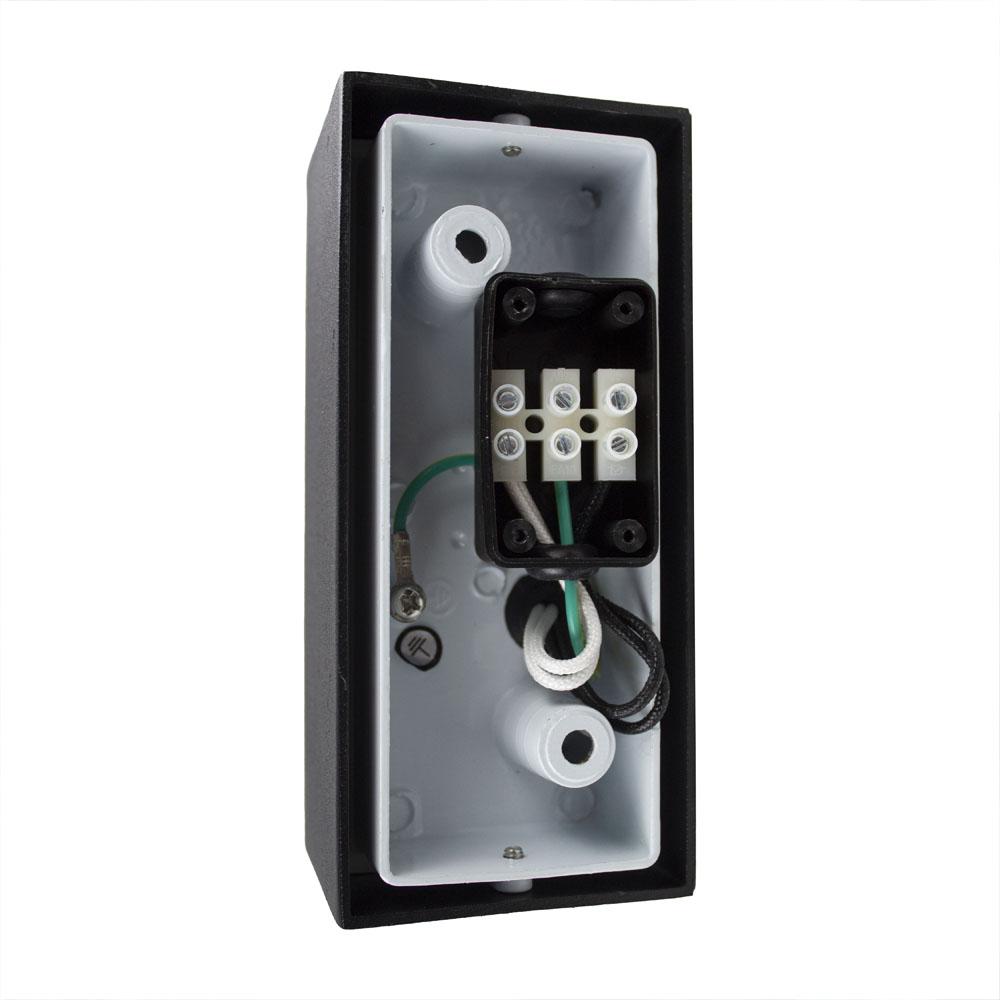 LED buiten spot armatuur 2 x GU10 fitting zwart IP44 - bekabeling