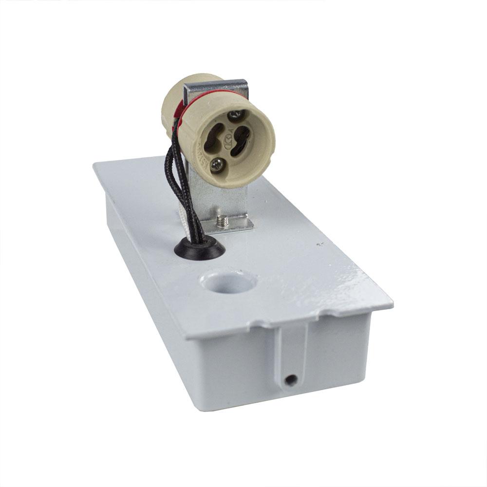 LED buiten spot armatuur 2 x GU10 fitting zwart IP44 - fitting