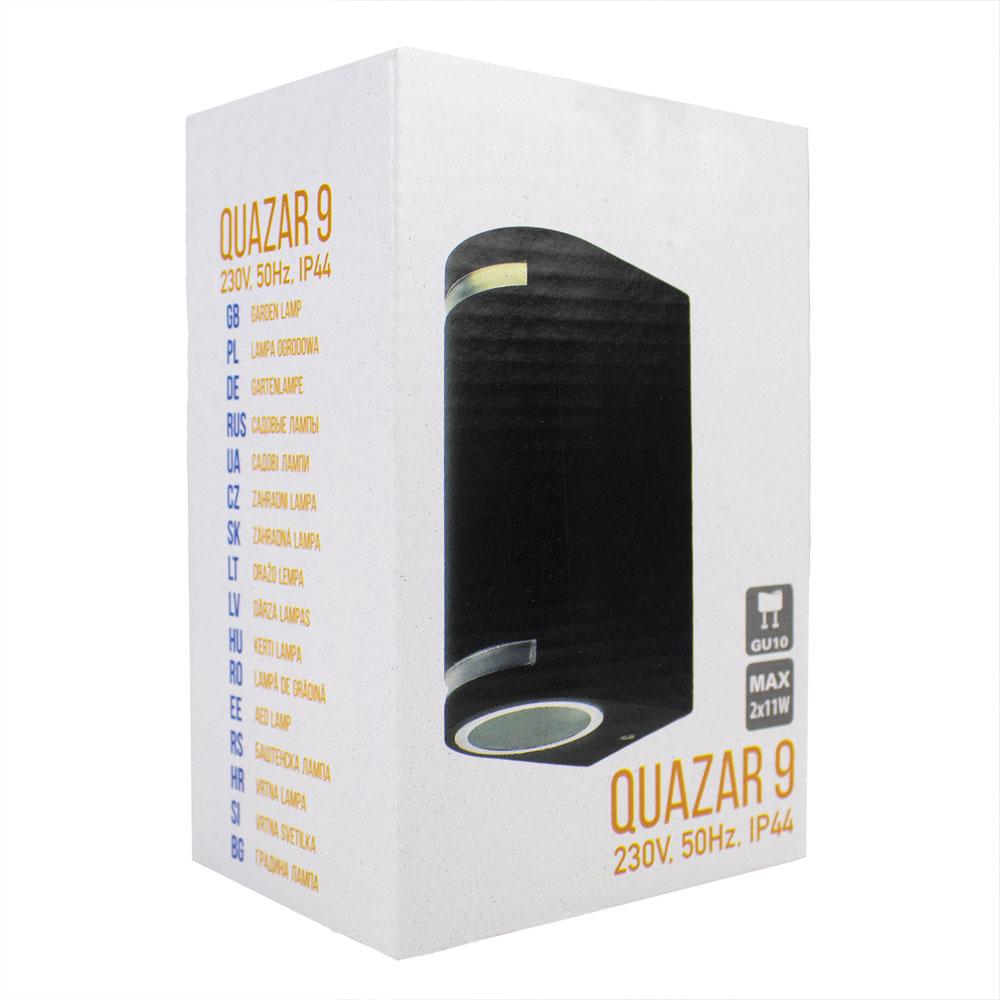 LED buiten spot armatuur 2 x GU10 fitting zwart IP44 - verpakking