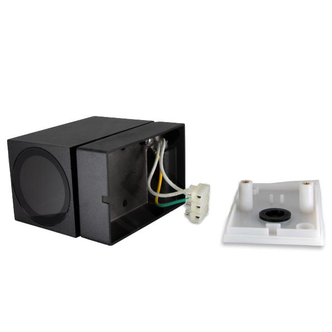 LED Buitenspot - vierkant - kantelbaar - GU10 - zwart - New york - IP44 - aansluiting