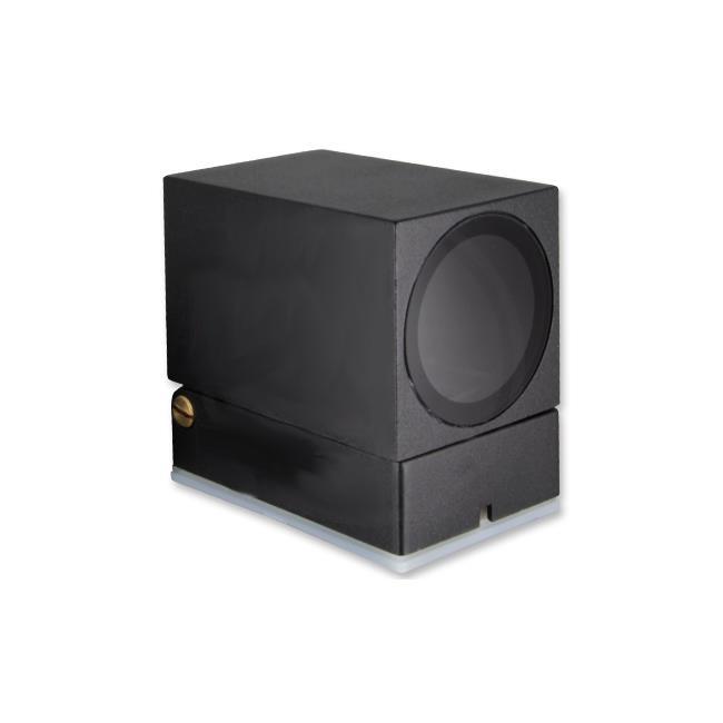LED Buitenspot - vierkant - kantelbaar - GU10 - zwart - New york - IP44 - onderkant