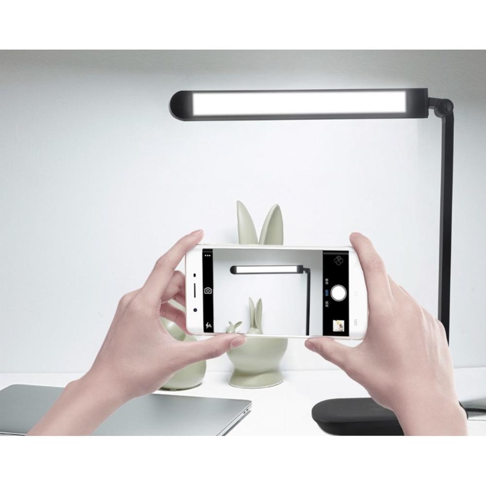 LED Bureau - tafelllamp kantelbaar zwart 8W