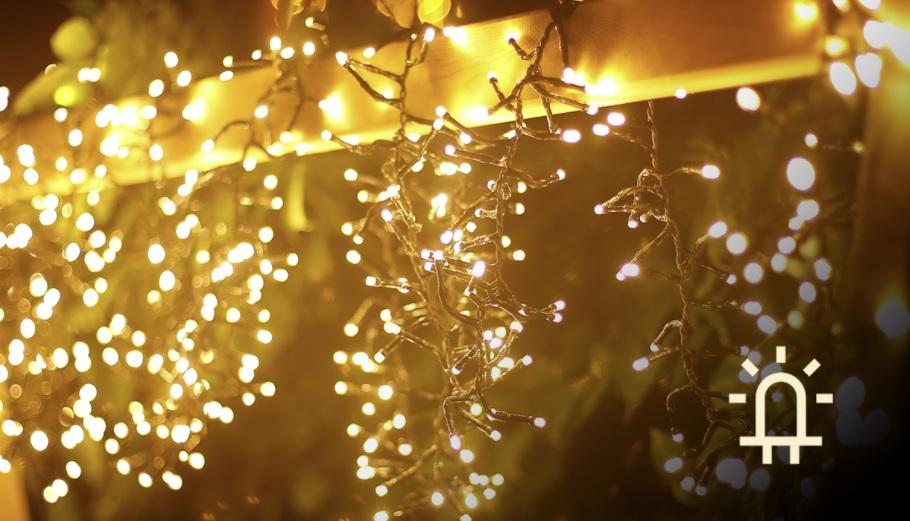 LED Clusterverlichting - Kerstverlichting - lichtslinger 250 Lampjes - warm wit - 10 meter - sfeerfoto 2