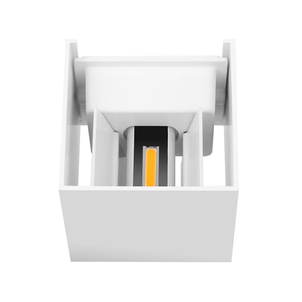 LED Cube wandlamp WIT - kubus - vierkant - 6 watt - dimbaar - 3000K warm wit - kantelbaar - bovenkant