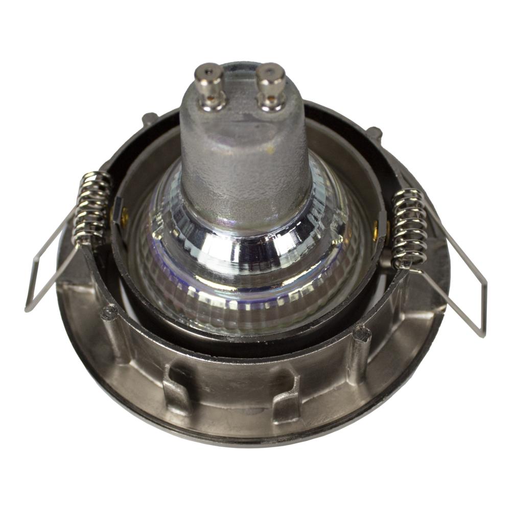 LED Dimbare Inbouw spot 5,5W RVS zonder klemveer - kantelbaar - silver - achterkant