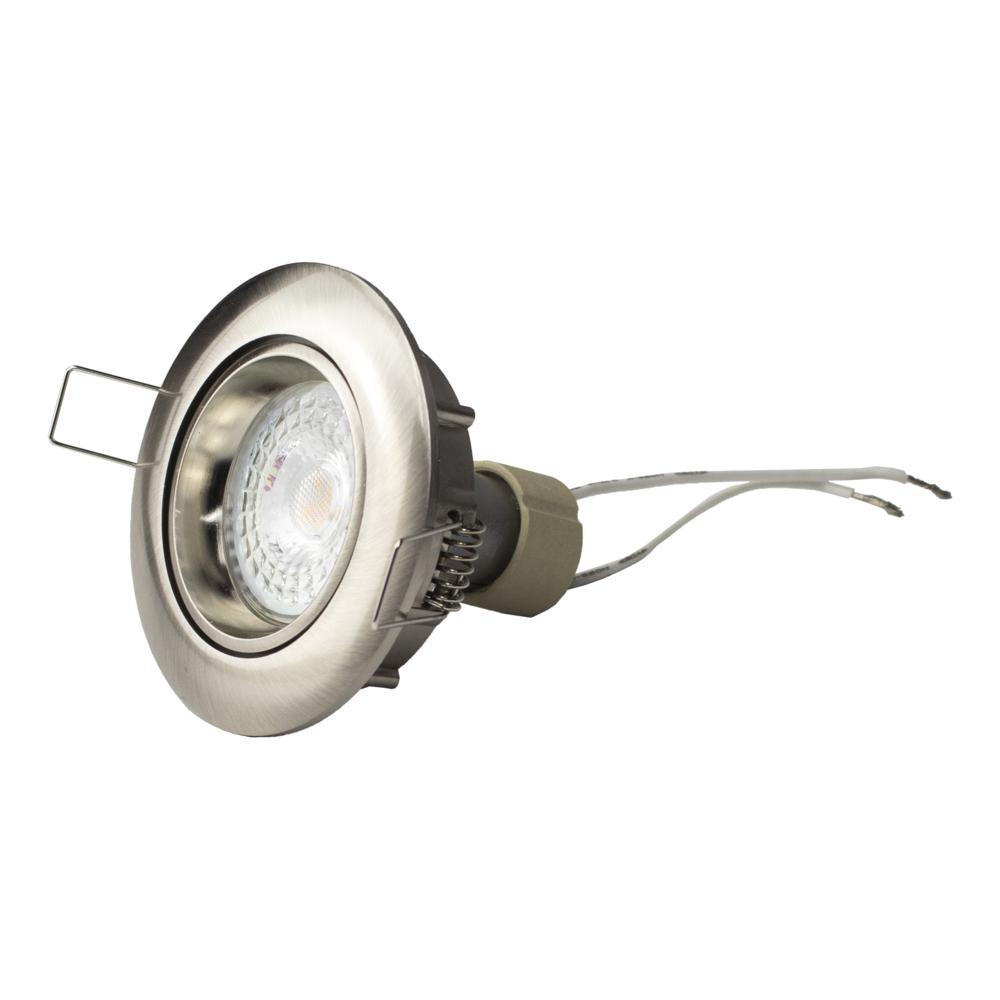 LED Dimbare Inbouw spot 5,5W RVS zonder klemveer - kantelbaar - silver - zijaanzicht
