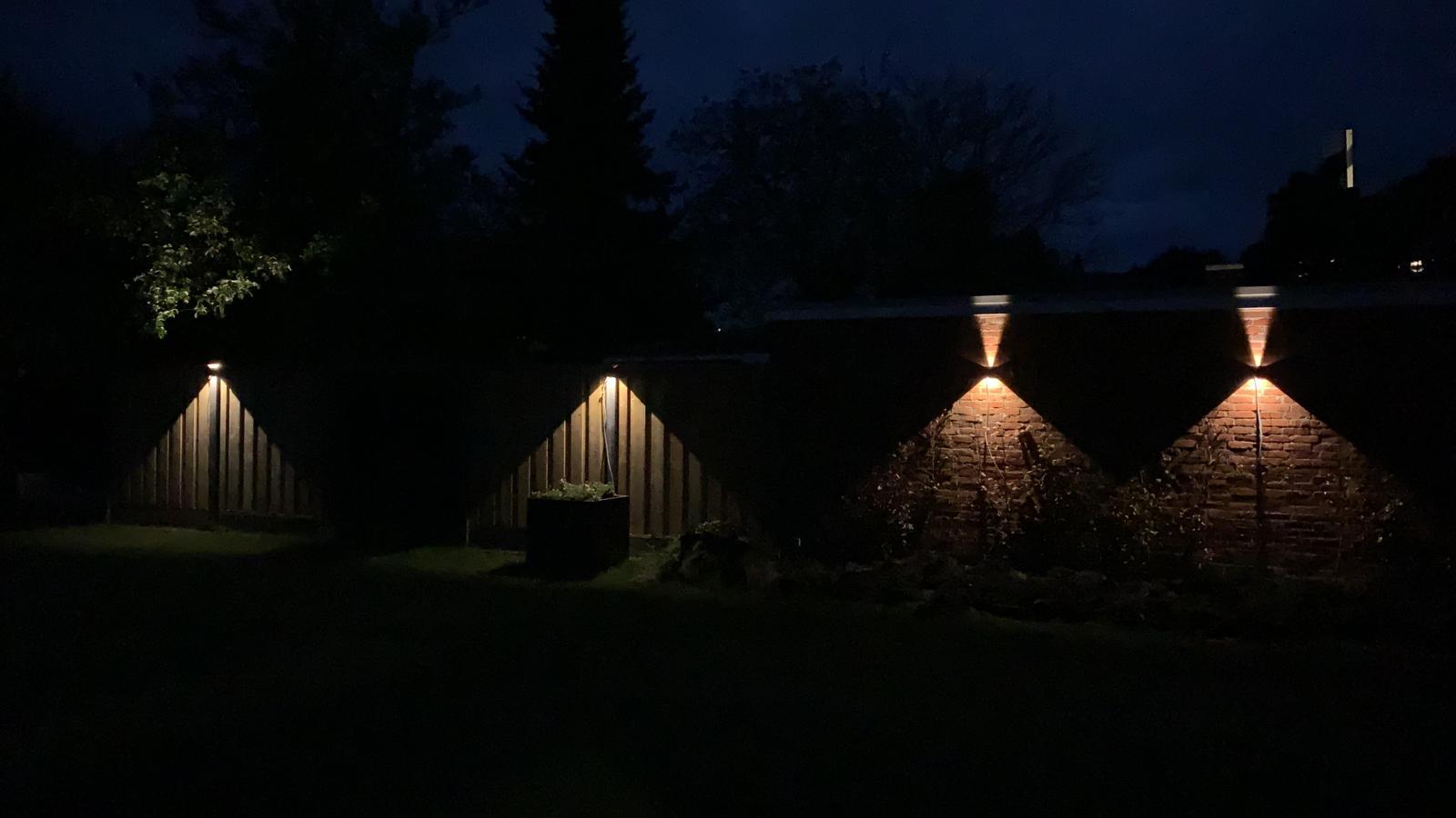 LED Dimbare cube wandlamp 6 watt - IP65 - 3000K - sfeerfoto