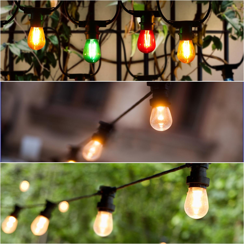 LED Feestverlichting - prikkabel - 6.5 meter - E27 fitting 10x - dimbaar - sfeerfoto