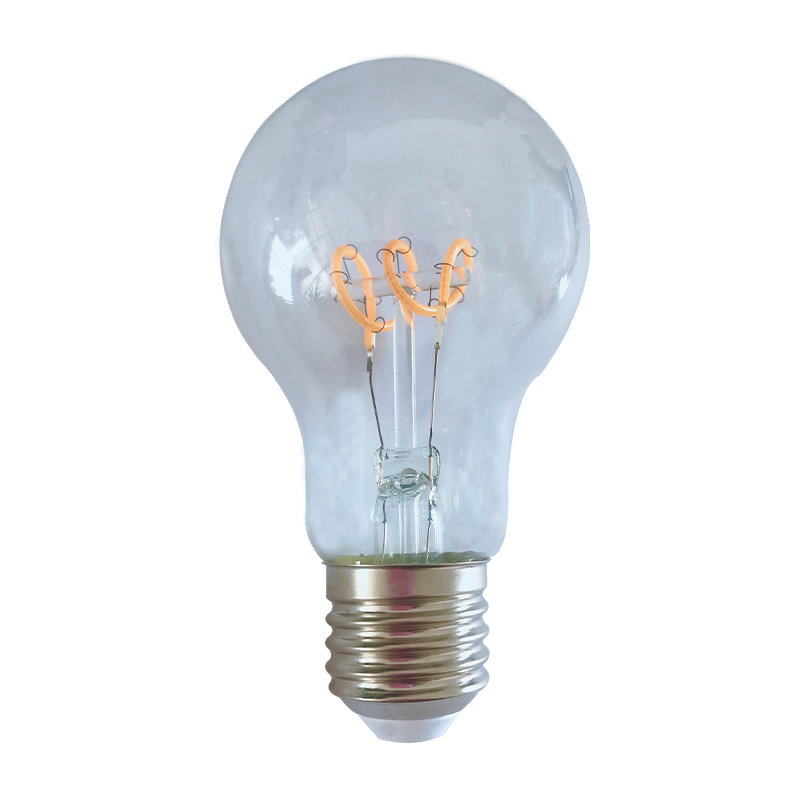 Gloeidraad spiraal LED filament peer lamp - 4 watt - dimbaar- 2200K extra warm wit