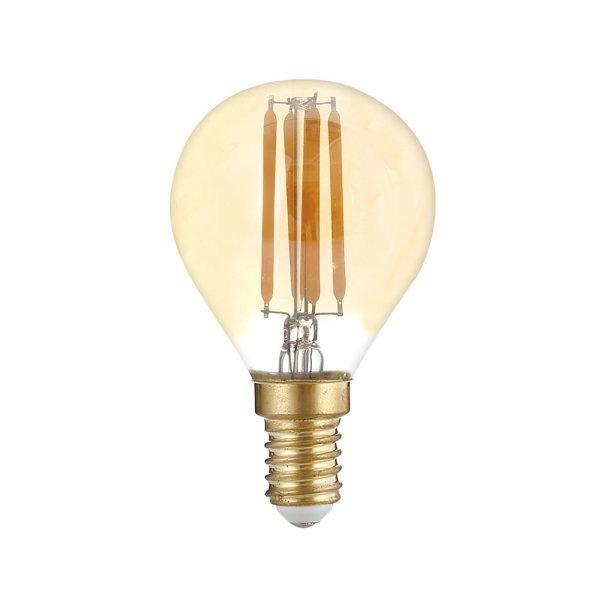 LED Filament lamp 4 watt - E14 - dimbaar - gold glass - 2700K warm wit