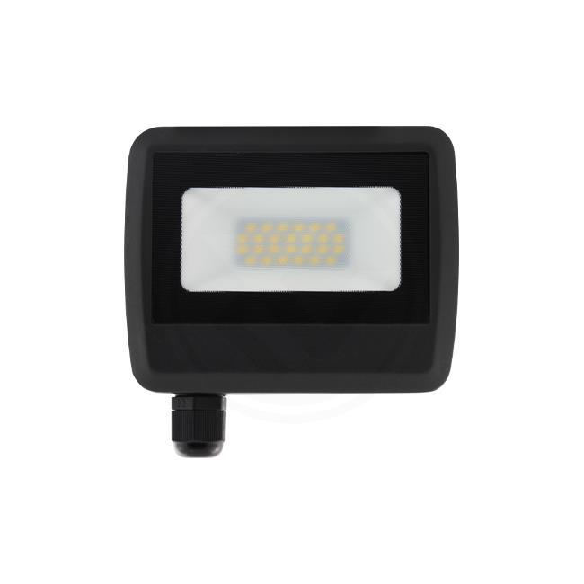 LED Floodlight 20 watt - Bouwlamp 20 watt - 4500K naturel wit - zonder kabel - verstraler 20W - vooraanzicht