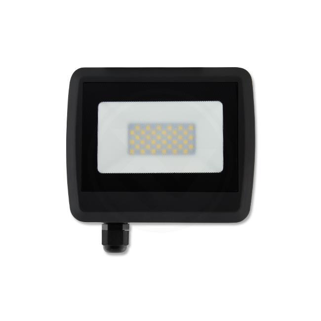 LED Floodlight 30 watt - Bouwlamp 30 watt - 4500K naturel wit - verstraler 30W - vooraanzicht