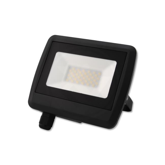 LED Floodlight 30 watt - Bouwlamp 30 watt - 4500K naturel wit - verstraler 30W - zijaanzicht