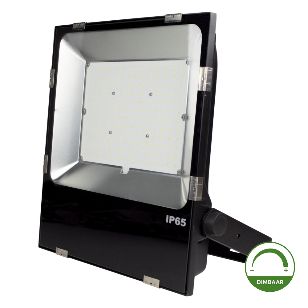 LED Floodlight - Bouwlamp - 100 watt - dimbaar - 5000K daglicht - zwart - projector - dimmable