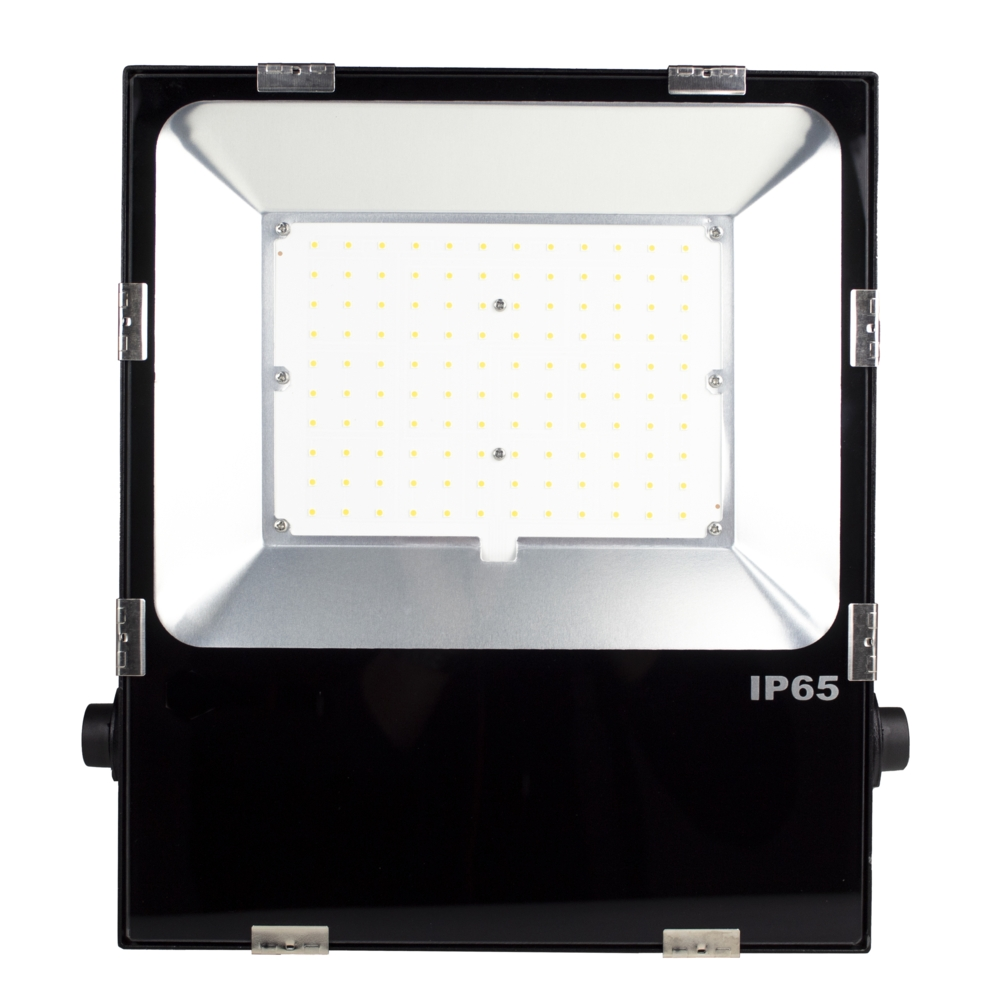 LED Floodlight - Bouwlamp - 100 watt - dimbaar - 5000K daglicht - zwart - vooraanzicht