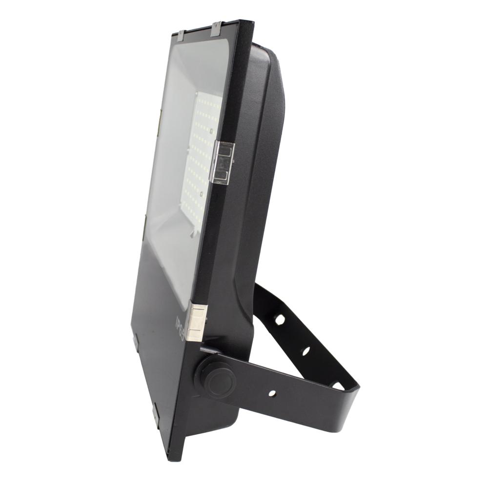 LED Floodlight - Bouwlamp - 100 watt - dimbaar - 5000K daglicht - zwart - zijaanzicht