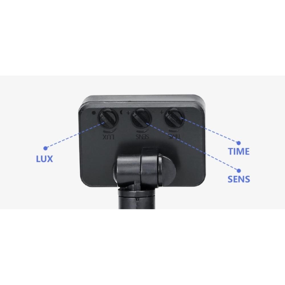 led-floodlight - schijnwerper met sensor - instellen bewegingsensor