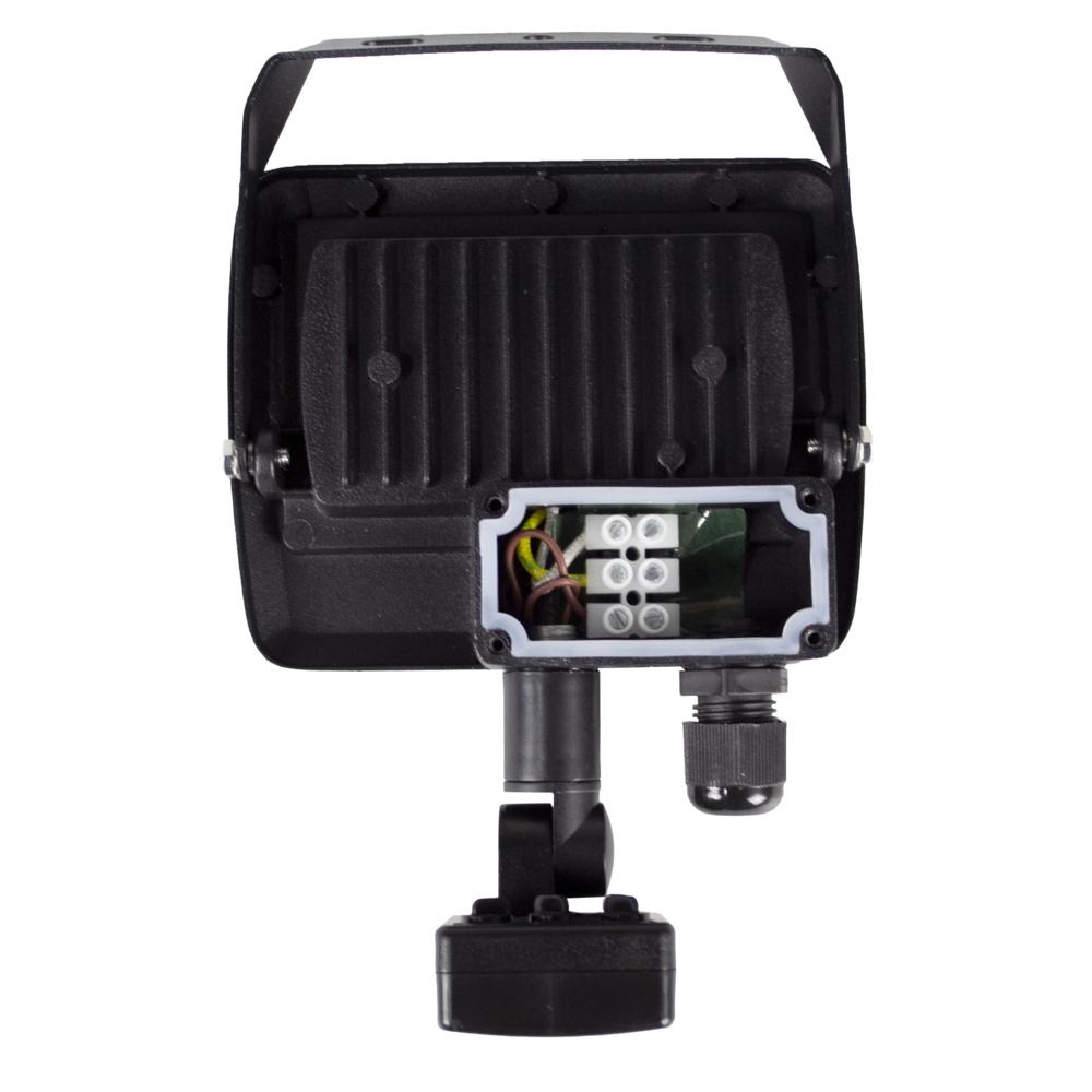 LED Floodlight sensor - Bouwlamp met sensor - IP65 - 20 watt - 4500K naturel wit - kabeldoos