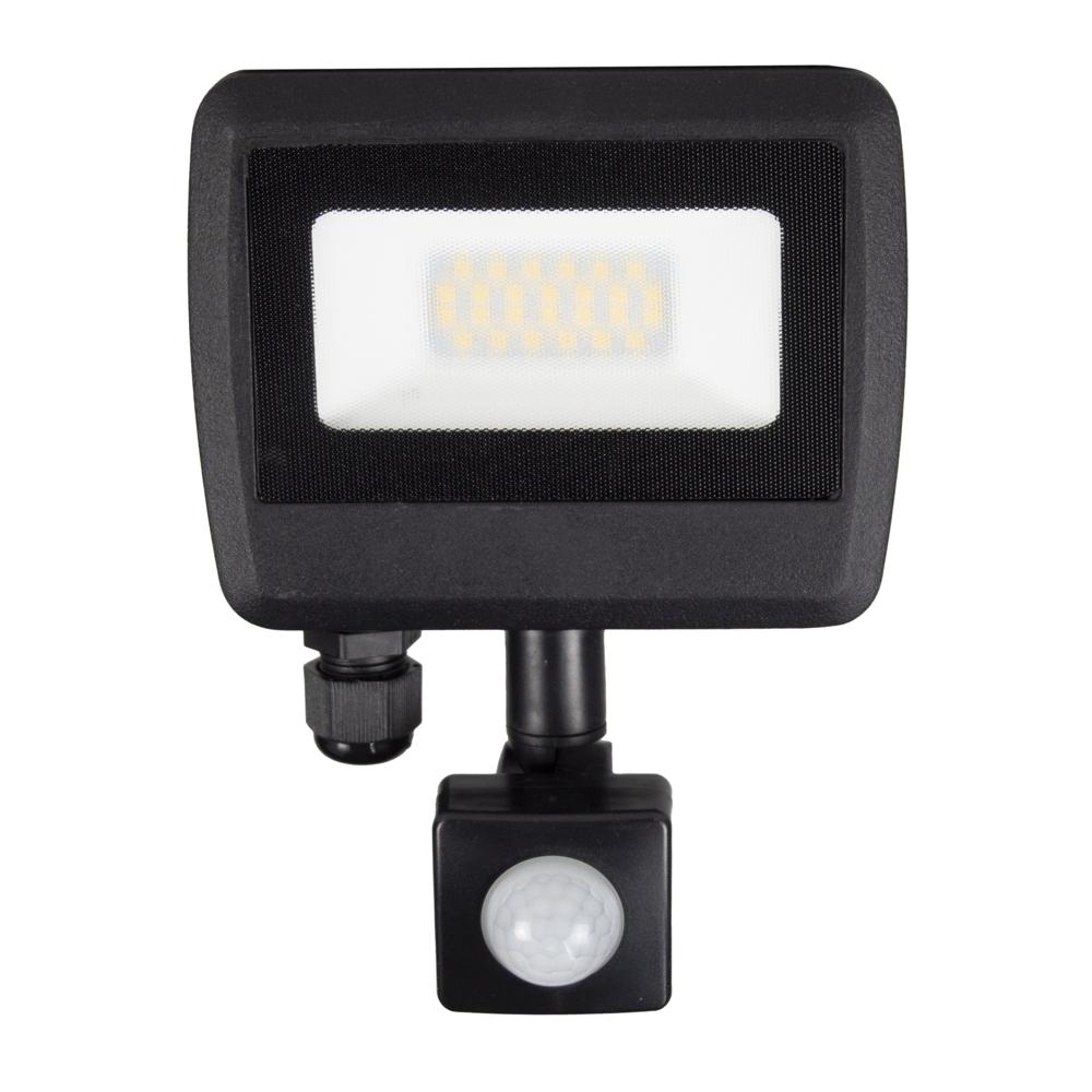 LED Floodlight sensor - Bouwlamp met sensor - IP65 - 20 watt - 4500K naturel wit - vooraanzicht