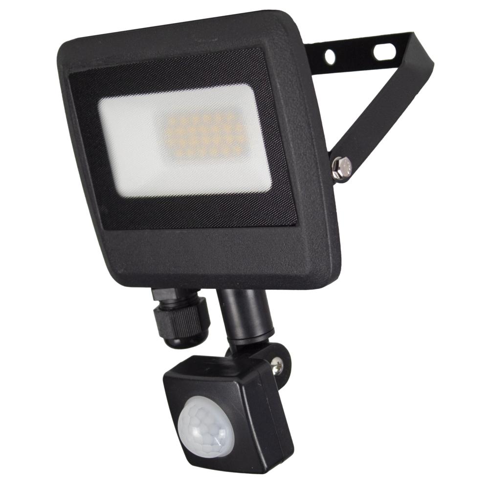 LED Floodlight sensor - Bouwlamp met sensor - IP65 - 20 watt - 4500K naturel wit - zijaanzicht