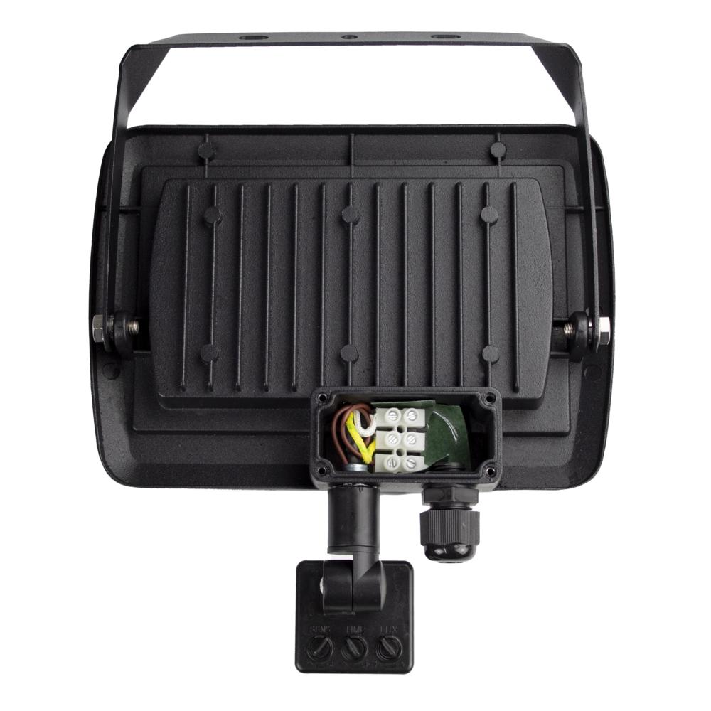 LED Floodlight sensor - Bouwlamp met sensor - IP65 - 50 watt - 4500K naturel wit - kabeldoos