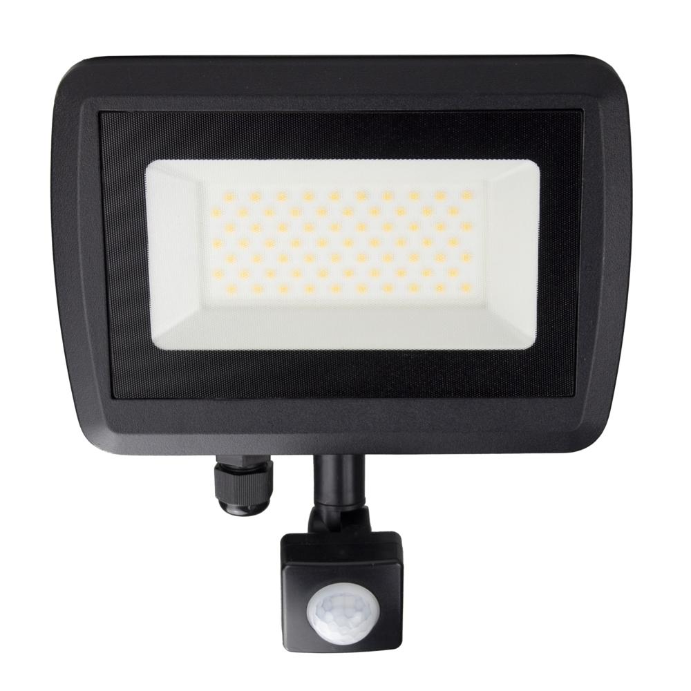 LED Floodlight sensor - Bouwlamp met sensor - IP65 - 50 watt - 4500K naturel wit - vooraanzicht