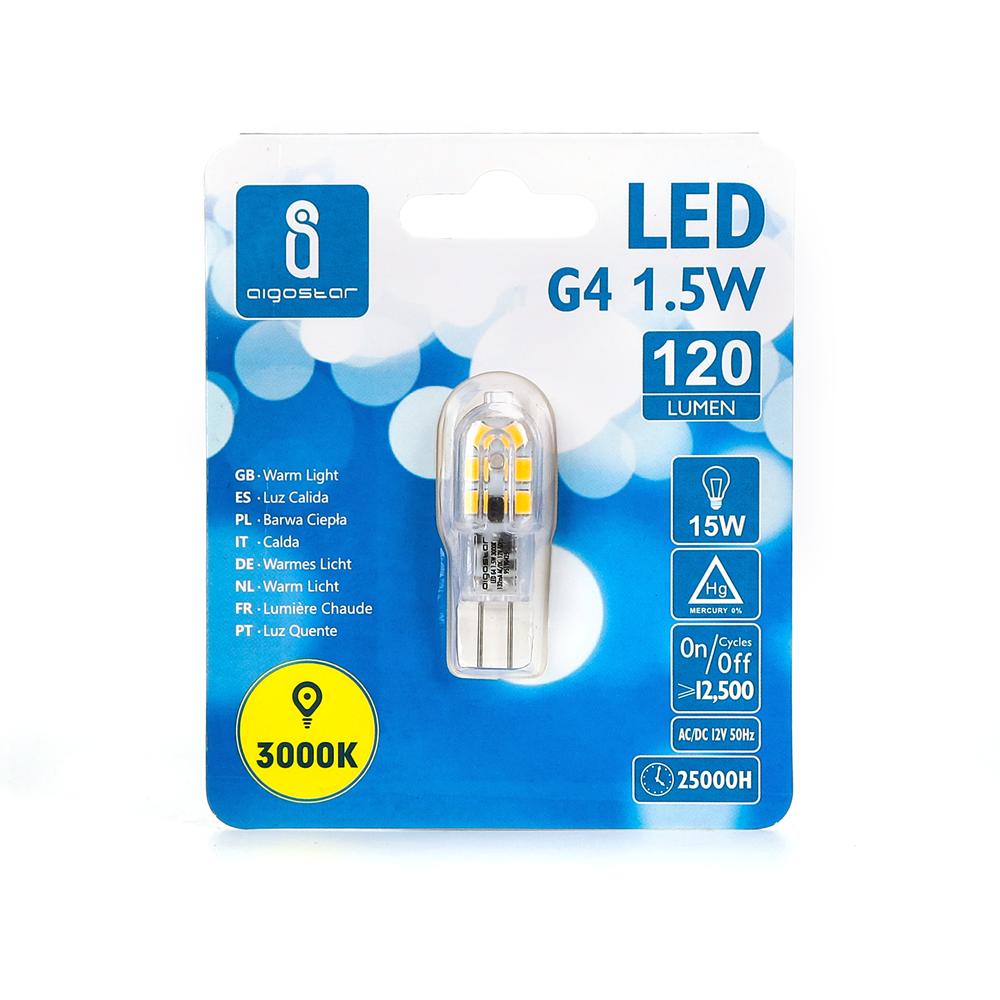 LED G4 Spot 12 volt 1,5 Watt 3000K - voorkant verpakking