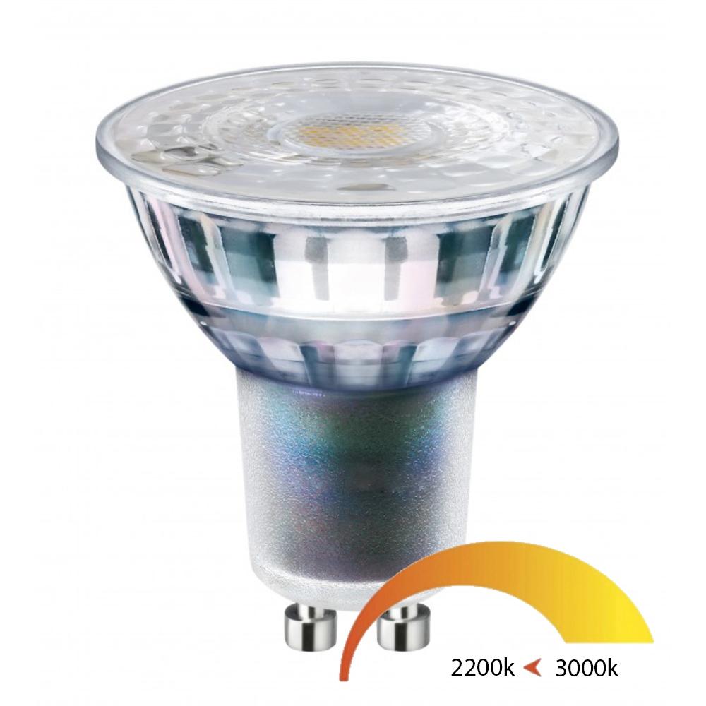 LED gu10 spot 5,5 Watt dim to warm 2200K - 3000K